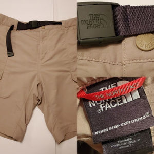 L   NORTH FACE Dry on the Fly BELTED CARGO SHORTS
